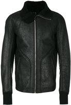 Rick Owens zipped jacket - men - Cotton/Leather - 50