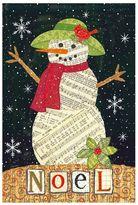 """Evergreen Snowman """"Noel"""" Indoor / Outdoor Christmas Garden Flag"""