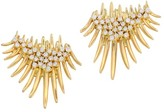 Hueb 18K Yellow Gold & Diamond Fan Spike Earrings