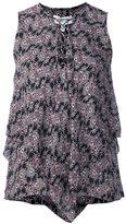 Derek Lam 10 Crosby lace-up collar asymmetric blouse