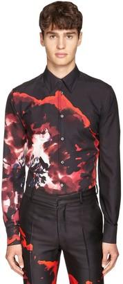 Alexander McQueen Floral Print Silk Shirt