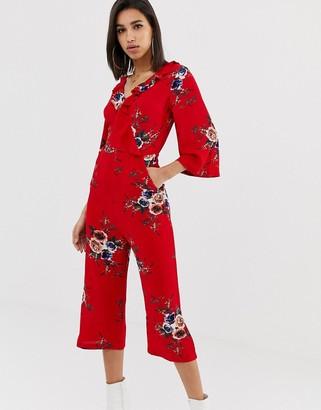AX Paris floral jumpsuit with long sleeve