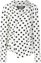 Jacquemus polka dot gathered asymmetrical blouse