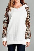 Michele Snow Leopard Hoodie