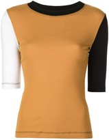 Rosetta Getty colour block T-shirt