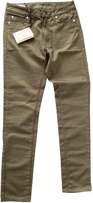 MAISON KITSUNÉ Khaki Cotton - elasthane Jeans