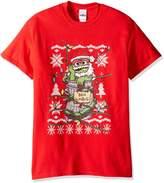 Sesame Street Men's Santa Oscar Ugly Christmas T-Shirt