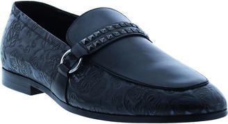 Robert Graham Men's Cassatt Studded Skull-Embossed Loafers