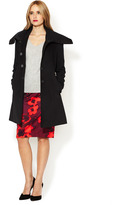 T Tahari Roxy Coat with Knit Combo