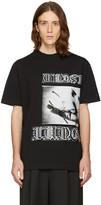 McQ by Alexander McQueen Black Dropped Shoulder T-Shirt