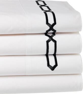 Dea Italian Linens Prato Embroidered Sheet Set