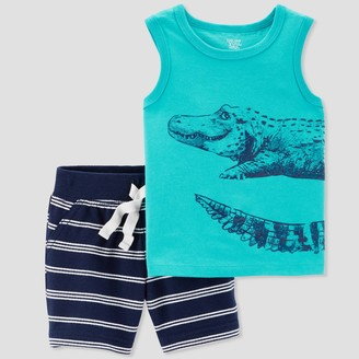 Just One You Made By Carter's Baby Boy' 2pc Alligator Tank and tripe hort et - Jut One You® made by carter'