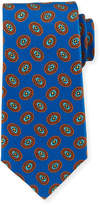 Kiton Fancy Ovals Silk Tie, Royal
