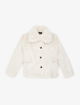The Kooples Faux-fur cropped jacket