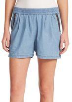 Rebecca Taylor Silk/Cotton Twill Shorts
