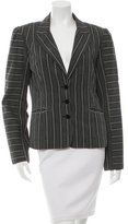 Mayle Peak-Lapel Striped Blazer