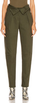 The Range Petite Corduroy Fold Over Pant in Deep Woods | FWRD