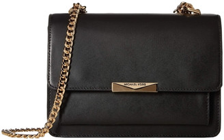 Michael Kors Handbags - Black Jade Gusset Leather Clutch