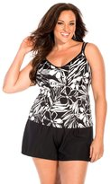 Miraclesuit Women's Plus Size Classic Bra Tankini Top 22W