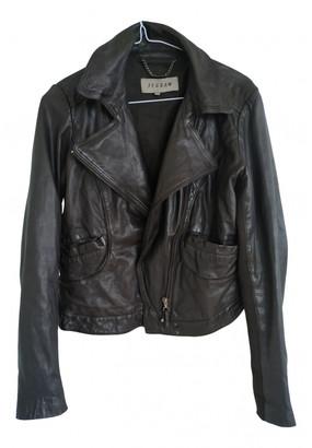 Jigsaw Black Leather Jackets