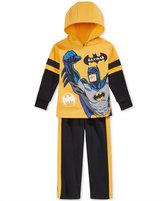 Nannette 2-Pc. Layered-Look Batman Hoodie & Pants Set, Little Boys (2-7)