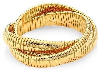 Alberto Milani Via Bagutta 18K Yellow Gold Wrap Around Bangle