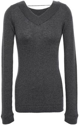 Brunello Cucinelli Metallic Ribbed-knit Top