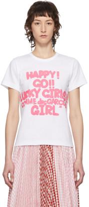 Comme des Garcons White Cotton Logo T-Shirt