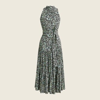 J.Crew Drapey tiered dress in fall garden floral