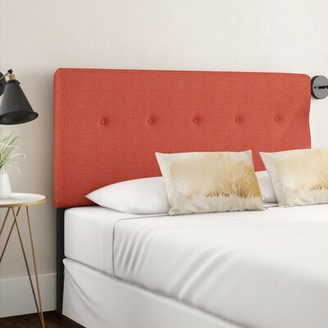 Brayden Studio Cambra Tufted Upholstered Panel Headboard Size: California King, Upholstery: Zuma Atomic