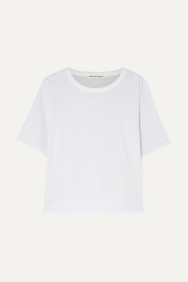 Alexander Wang Reversible Stretch-cotton Jersey T-shirt - White