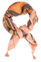 Violeta BY MANGO Mosaic print scarf