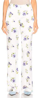 Les Rêveries Silk Lounge Pants in Trippy Rose   FWRD