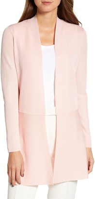Anne Klein Seam Detail Long Open Cardigan