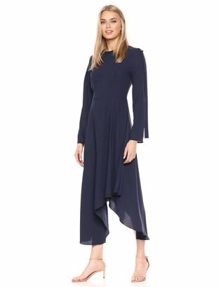 BCBGMAXAZRIA Azria Women's Asymmetric Pleather-Trimmed Dress