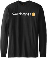 Carhartt Men's Big & Tall Signature Logo Midweight Jersey Long Sleeve T-Shirt