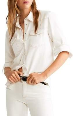 MANGO Chest Pocket Denim Shirt