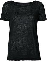 Majestic Filatures classic crewneck T-shirt - women - Linen/Flax - 1