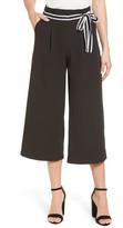 Halogen Women's Tie Waist Wide Leg Crop Pants
