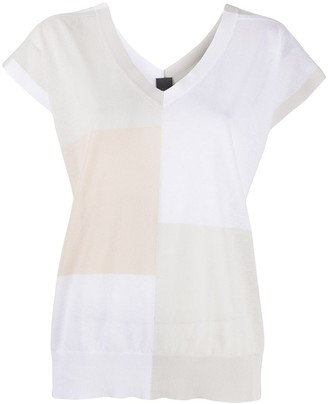 Lorena Antoniazzi colour-block V-neck T-shirt