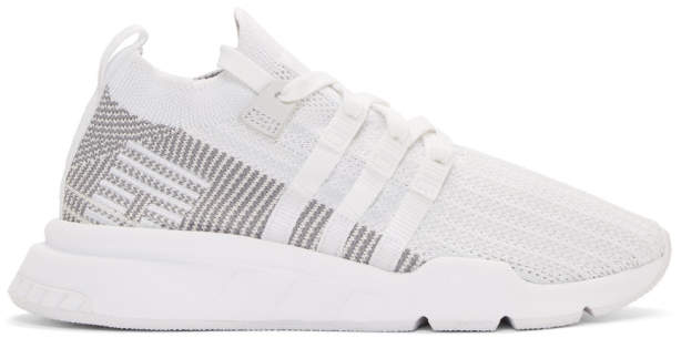 adidas White EQT Support Mid ADV Sneakers