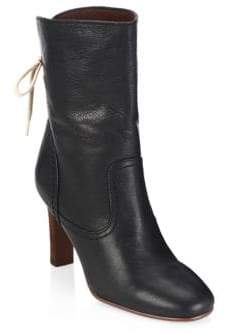See by Chloe Lara Black Lace-Up Boots