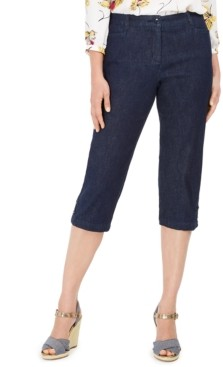 Karen Scott Petite Denim Capri Pants, Created for Macy's