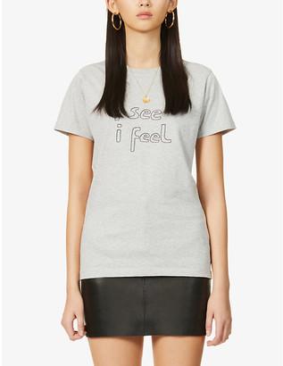 Bella Freud I See I Feel organic cotton-jersey T-shirt