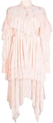MATÉRIEL Ruffled Lace Dress