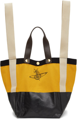Vivienne Westwood Yellow Runner Holdall Tote