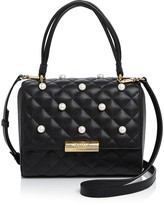 Moschino Faux-Pearl Satchel