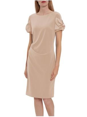 Gina Bacconi Lorene Crepe Dress With Satin Bows