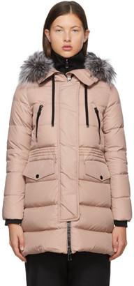 Moncler Pink Down Aphroti Coat