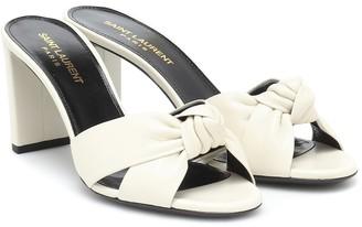 Saint Laurent Bianca 75 leather sandals